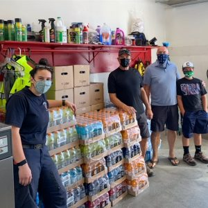 C.V.H. team with the Chelan Fire Department and donations.